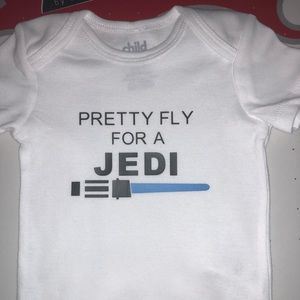 Pretty fly for a jedi vinyl onesie